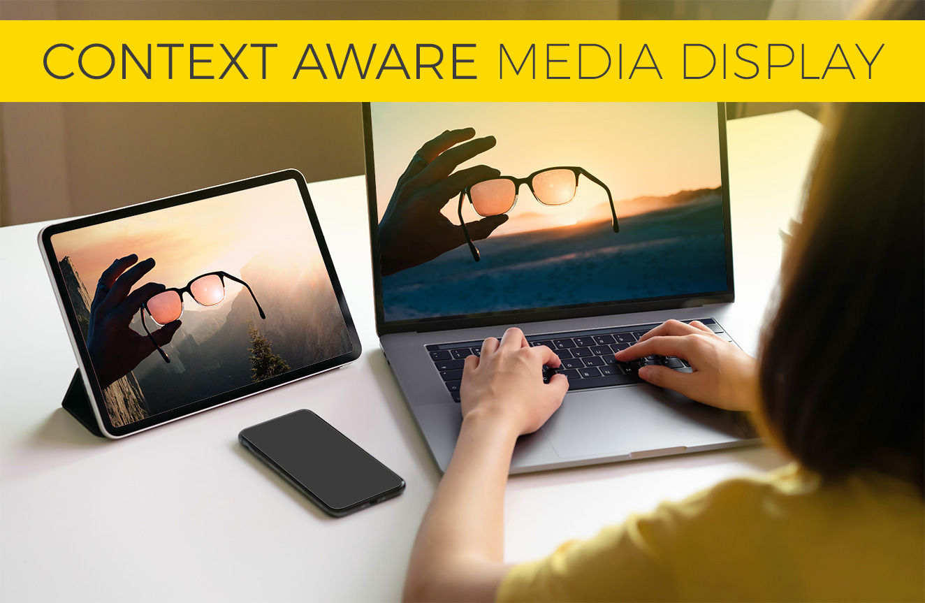 Context aware media display