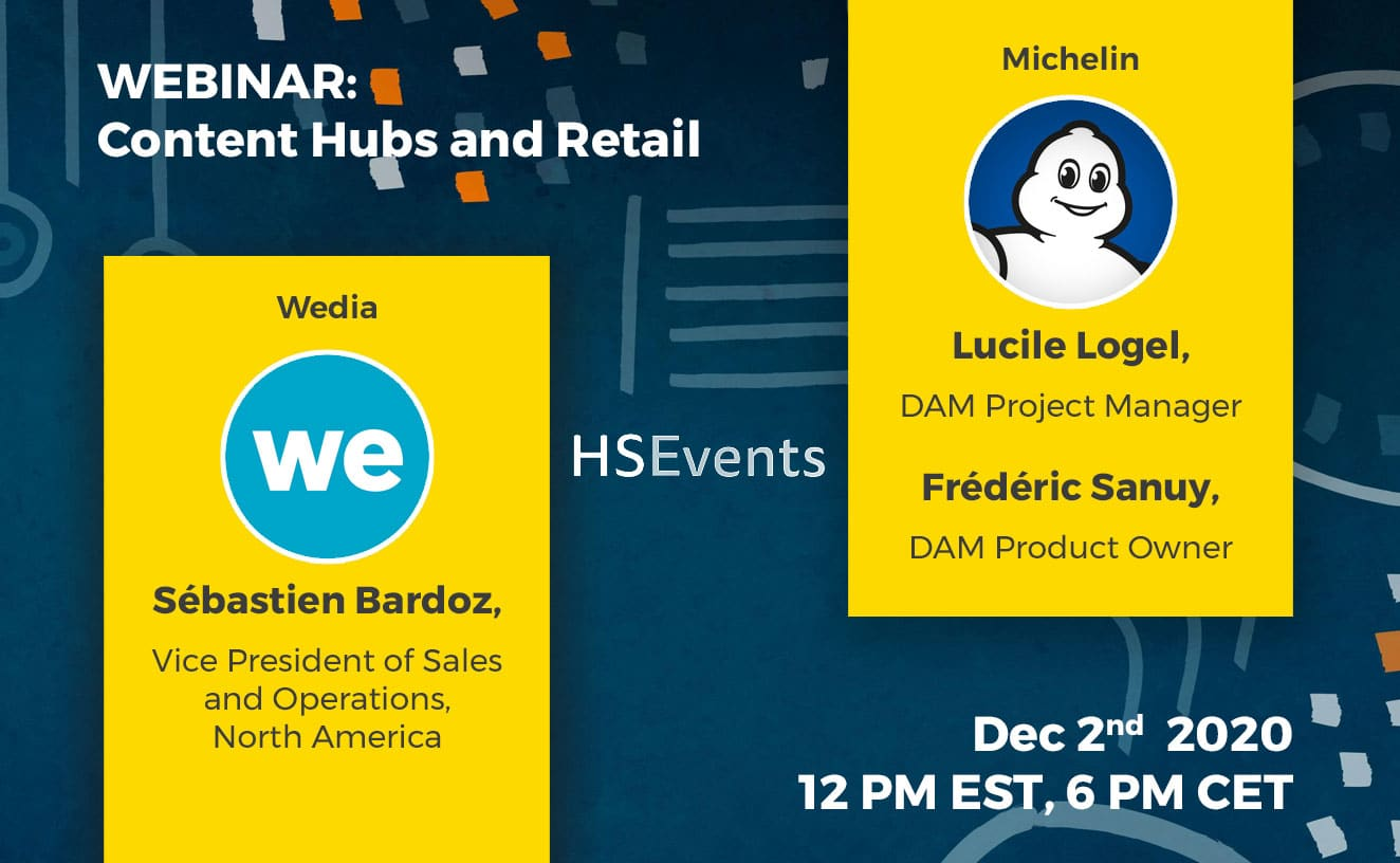 Webinar Content Hubs and Retail by Wedia with Michelin's testimonial
